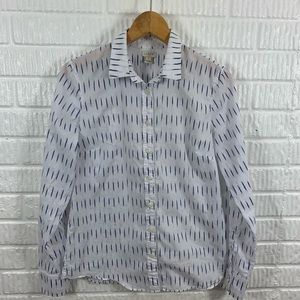 J Crew Factory White Blue Button Down Small